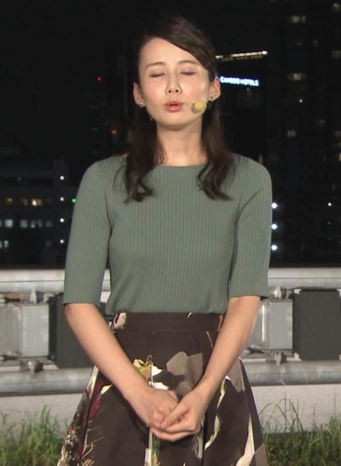 森川夕貴アナ オススメのニット乳キャプ・エロ画像8