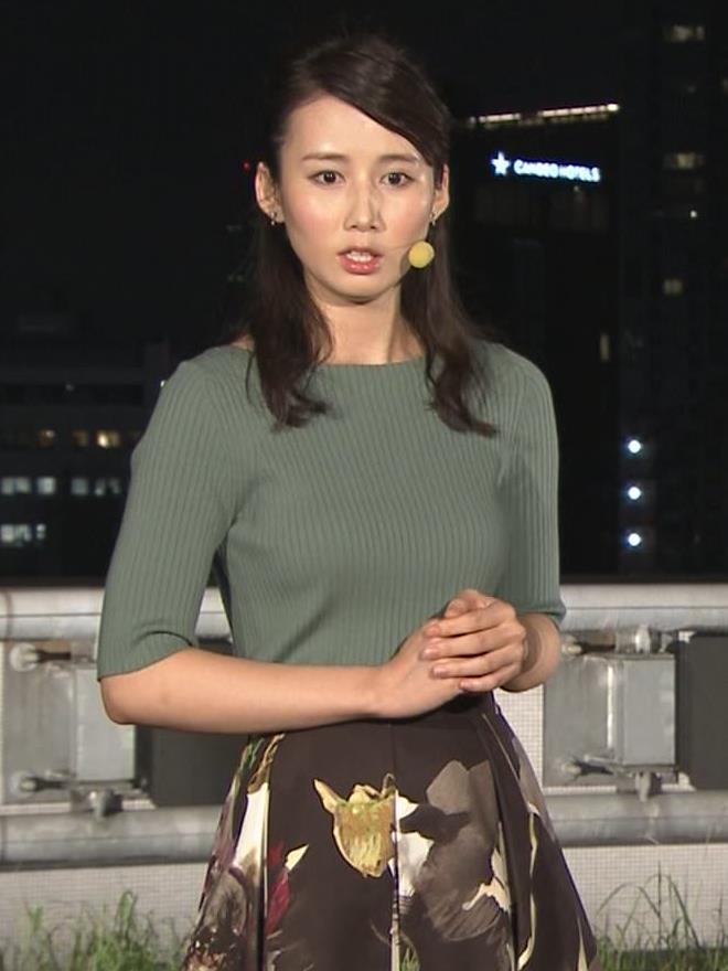 森川夕貴アナ オススメのニット乳キャプ・エロ画像10