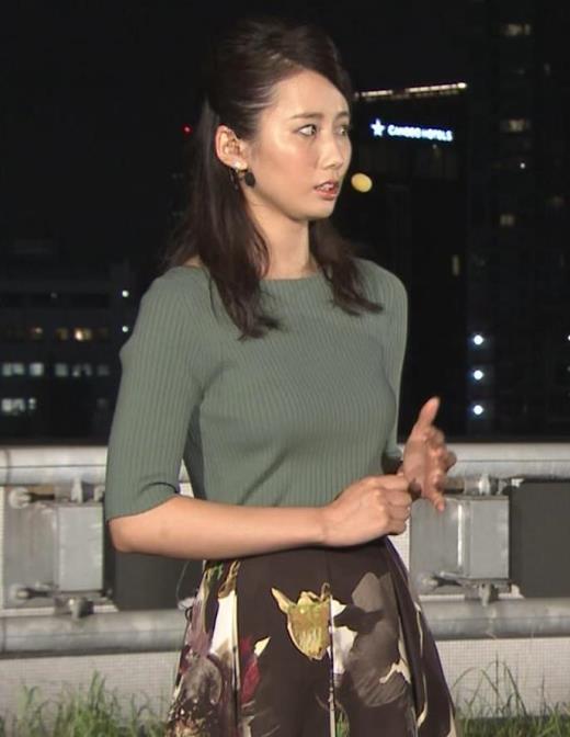 森川夕貴アナ オススメのニット乳キャプ画像(エロ・アイコラ画像)