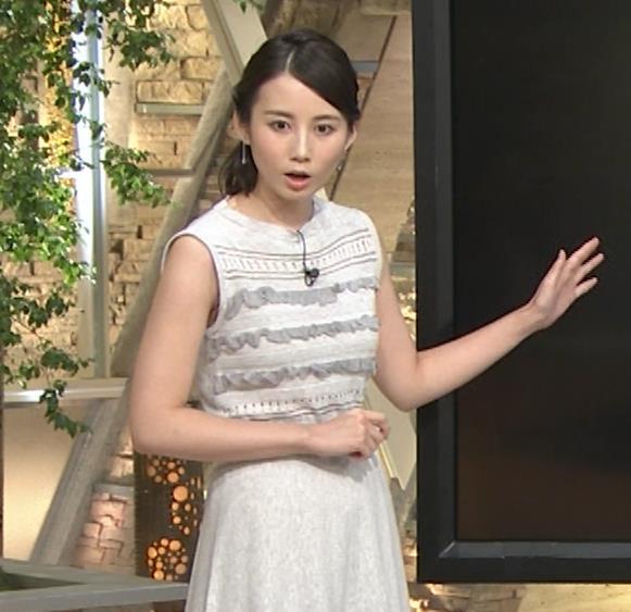 森川夕貴アナ またおっぱい強調されたノースリーブキャプ・エロ画像2