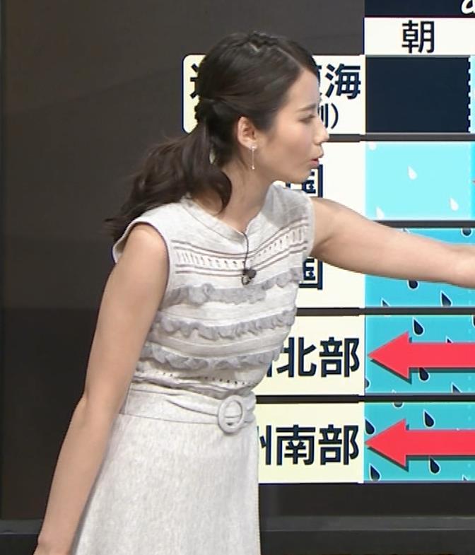 森川夕貴アナ またおっぱい強調されたノースリーブキャプ・エロ画像6