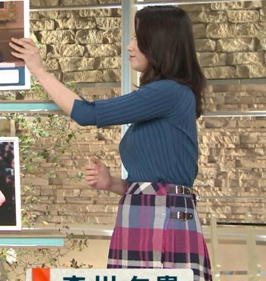 森川夕貴アナ 最近特にエロ過ぎのニット乳キャプ画像(エロ・アイコラ画像)