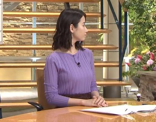 森川夕貴アナ 最近のおっぱいの主張がいい感じキャプ・エロ画像