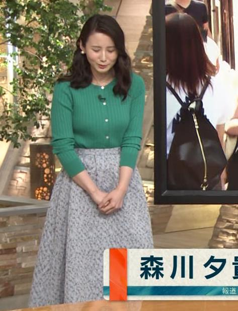 森川夕貴アナ さらに巨乳化してるよねキャプ・エロ画像