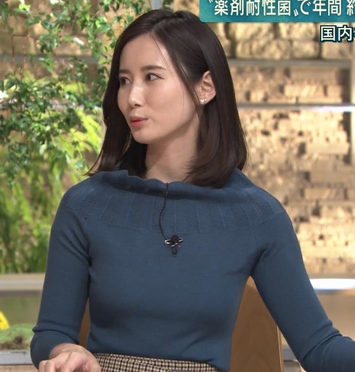 森川夕貴アナ 胸のふくらみがエロいニットキャプ・エロ画像3