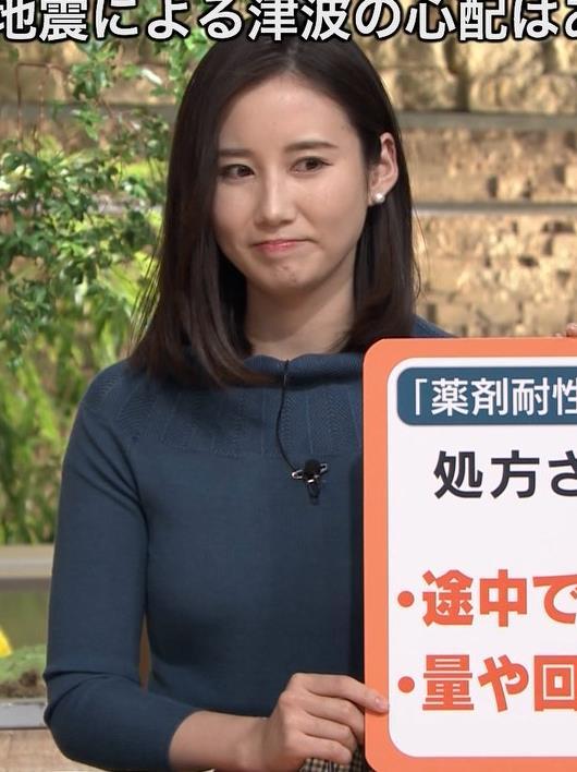 森川夕貴アナ 胸のふくらみがエロいニットキャプ・エロ画像6