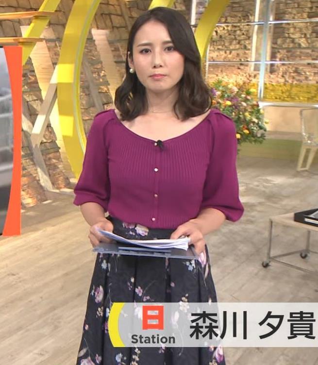 森川夕貴アナ 報道ステーションキャプ・エロ画像2