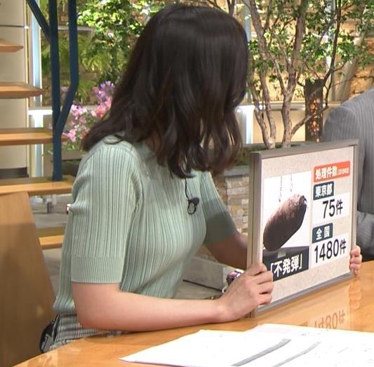 森川夕貴アナ 横乳えっろキャプ・エロ画像