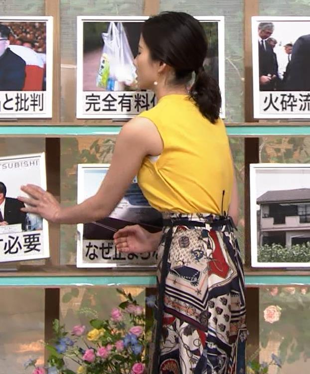 森川夕貴アナ エロいノースリーブ、インナーチラもキャプ・エロ画像