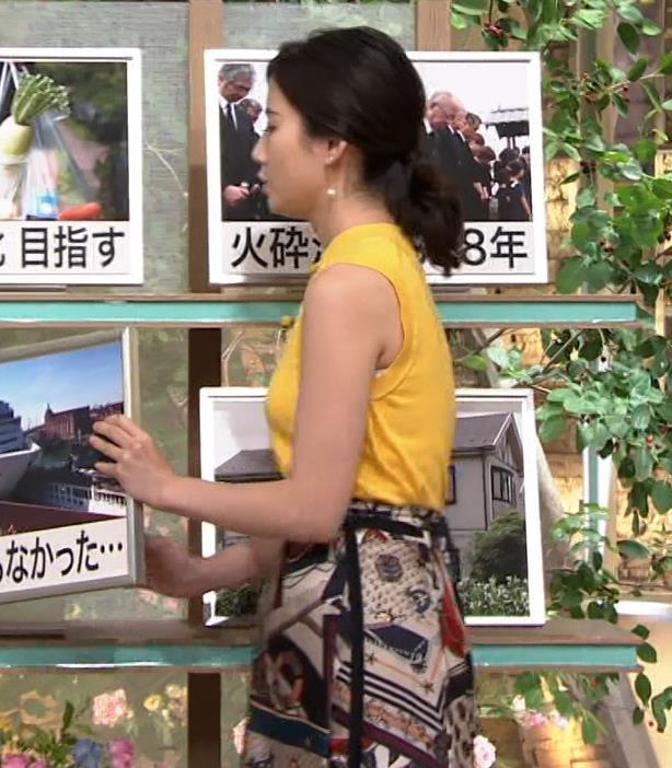 森川夕貴アナ エロいノースリーブ、インナーチラもキャプ・エロ画像3