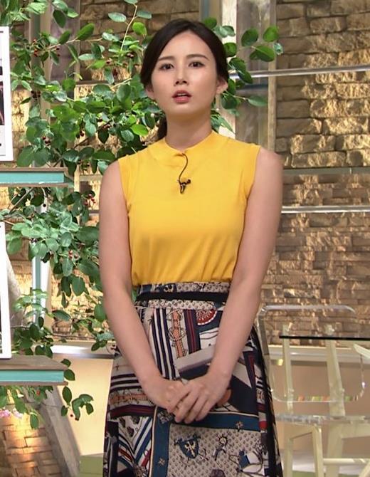 森川夕貴アナ エロいノースリーブ、インナーチラもキャプ・エロ画像4