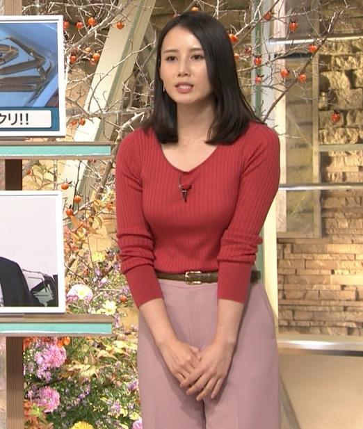森川夕貴アナ ニット巨乳を両腕ではさむ!キャプ・エロ画像