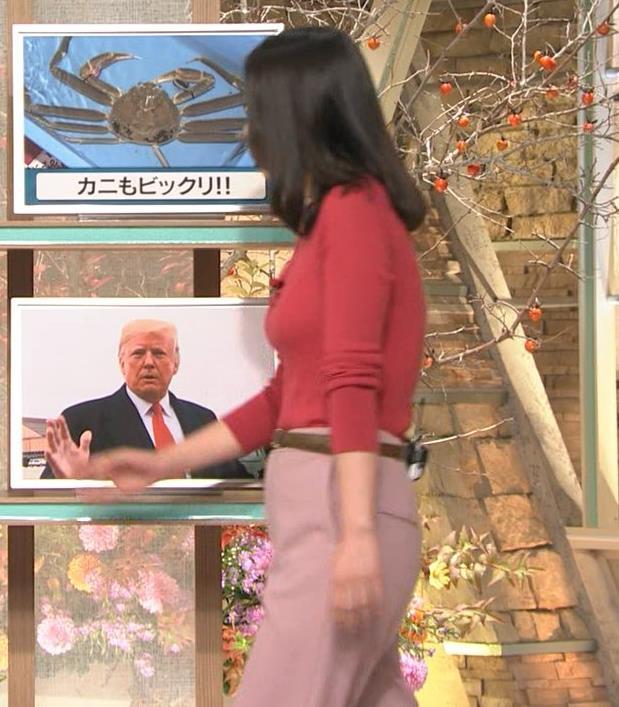 森川夕貴アナ ニット巨乳を両腕ではさむ!キャプ・エロ画像6