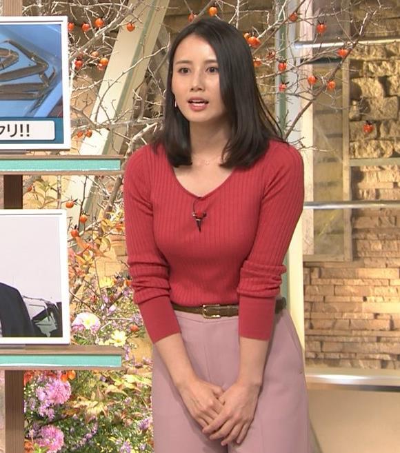森川夕貴アナ ニット巨乳を両腕ではさむ!キャプ・エロ画像7