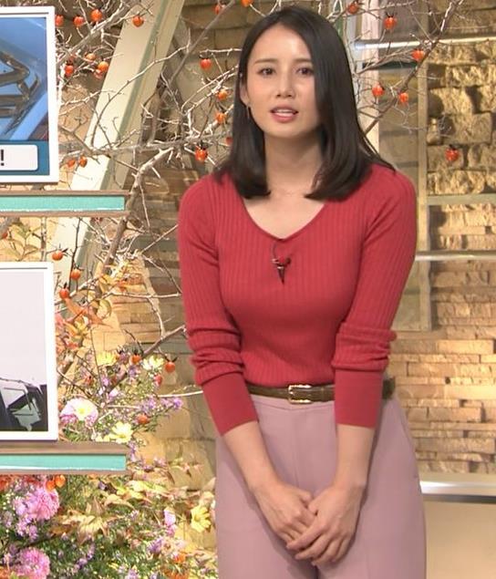 森川夕貴アナ ニット巨乳を両腕ではさむ!キャプ・エロ画像8