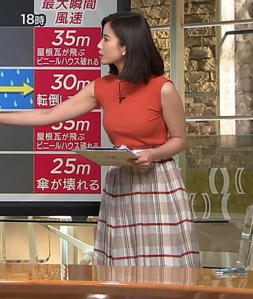 森川夕貴アナ ノースリーブニット乳がデカいキャプ・エロ画像2