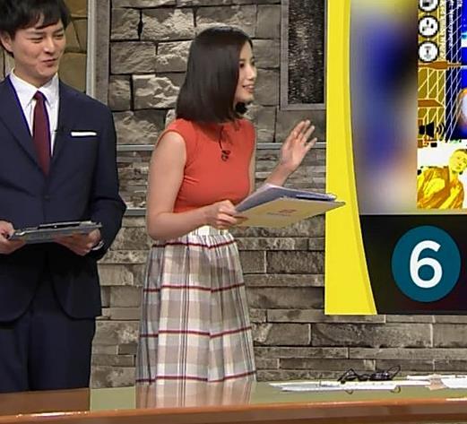 森川夕貴アナ ノースリーブニット乳がデカいキャプ・エロ画像5