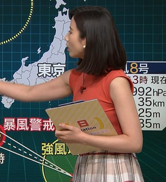 森川夕貴アナ ノースリーブニット乳がデカいキャプ・エロ画像7