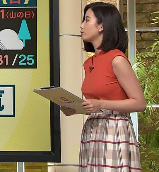 森川夕貴アナ ノースリーブニット乳がデカいキャプ・エロ画像8