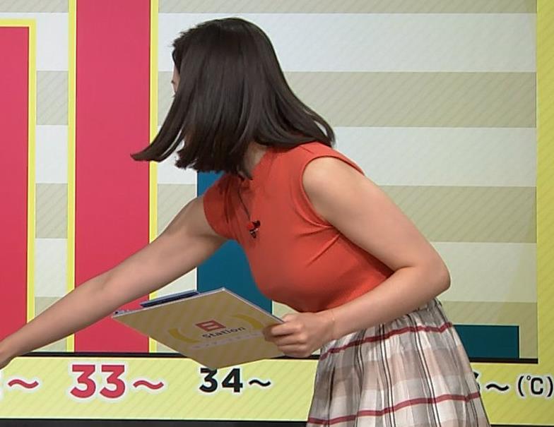 森川夕貴アナ ノースリーブニット乳がデカいキャプ・エロ画像9