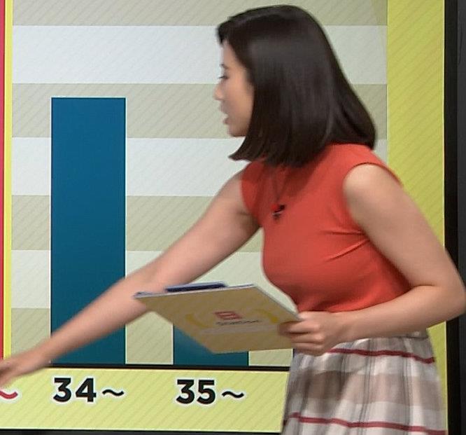 森川夕貴アナ ノースリーブニット乳がデカいキャプ・エロ画像10