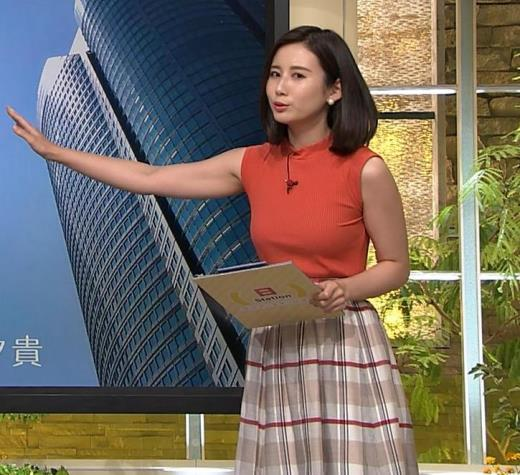 森川夕貴アナ ノースリーブニット乳がデカいキャプ画像(エロ・アイコラ画像)