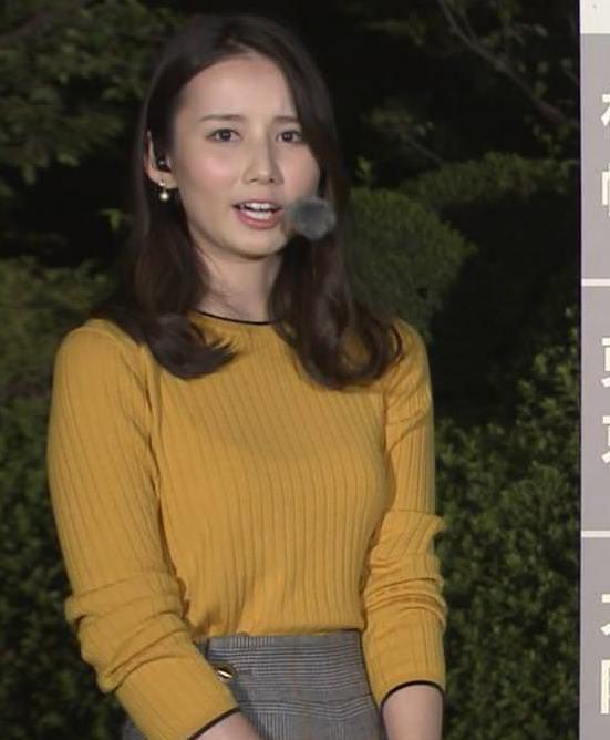 森川夕貴アナ インナーがちょっと透けたニット乳キャプ・エロ画像2