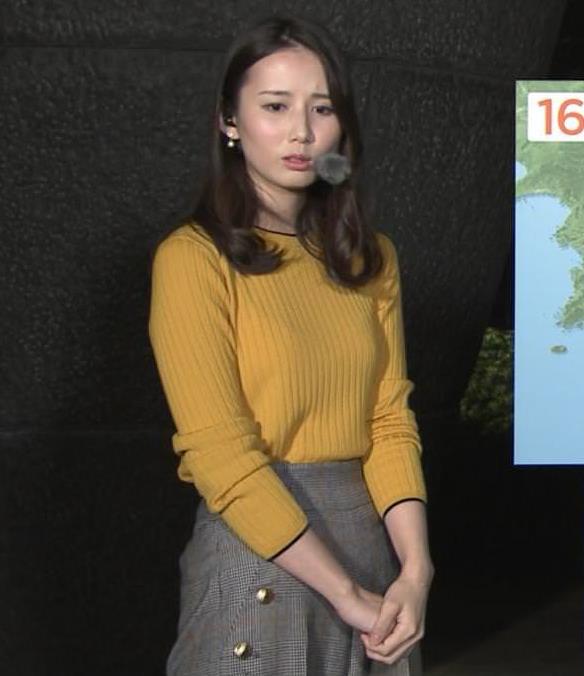 森川夕貴アナ インナーがちょっと透けたニット乳キャプ・エロ画像5