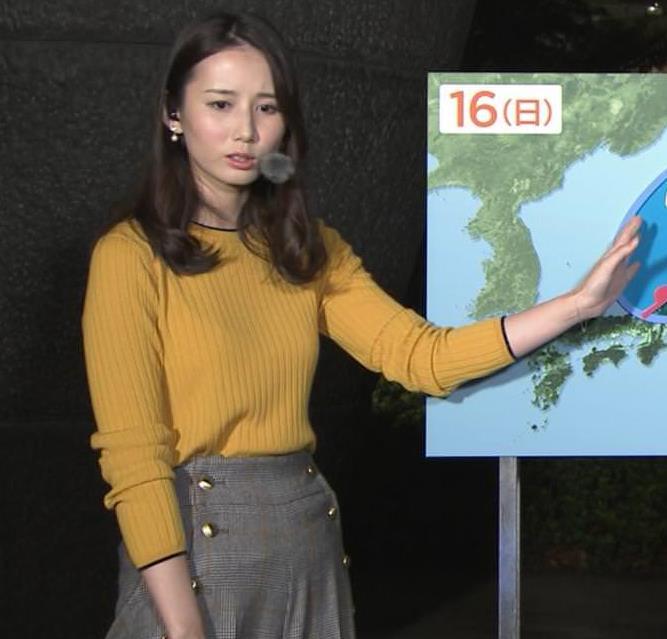 森川夕貴アナ インナーがちょっと透けたニット乳キャプ・エロ画像6