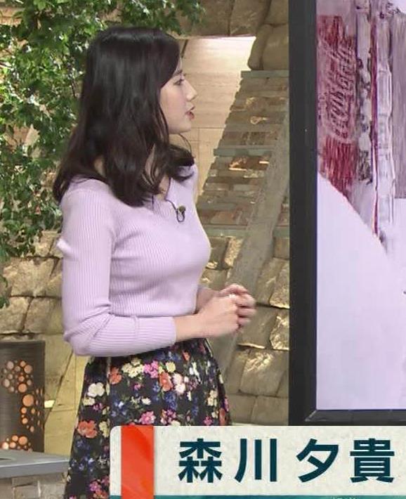 森川夕貴アナ 成長しているのか…ニットおっぱいキャプ・エロ画像5