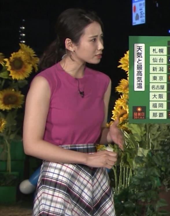 アナ ニットおっぱい&暑くて顔がテカテカキャプ・エロ画像8