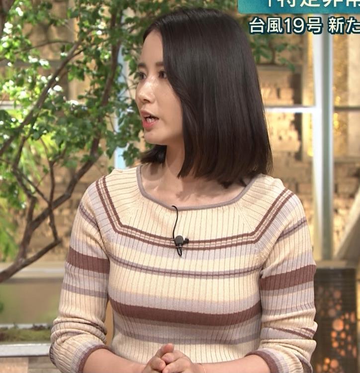 森川夕貴アナ カラダのラインがでるボーダーニットキャプ・エロ画像7