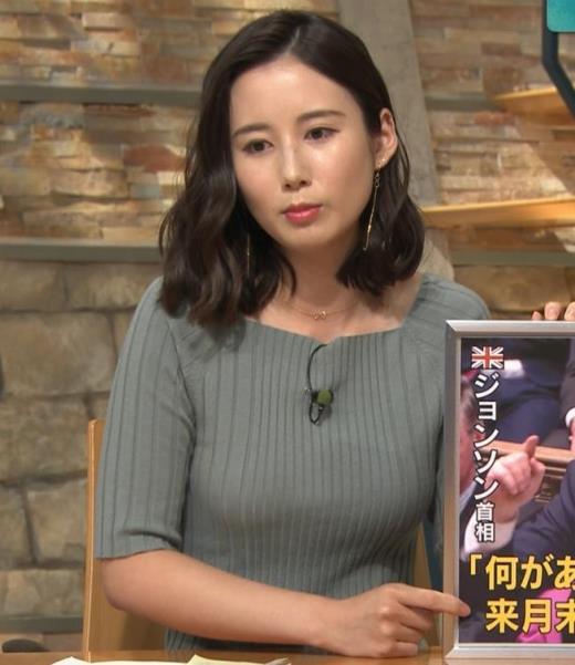森川夕貴アナ おっぱいがエロいニットキャプ画像(エロ・アイコラ画像)