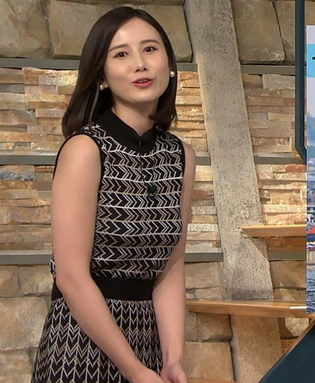 森川夕貴アナ 胸のラインが際立つ柄キャプ・エロ画像12