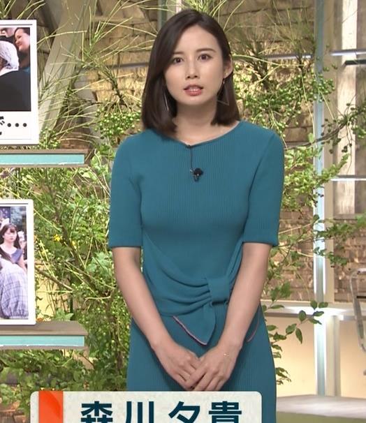 森川夕貴アナ おっぱいエロ過ぎキャプ・エロ画像