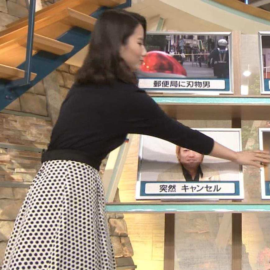 森川夕貴アナ 黒ニットの乳キャプ・エロ画像4