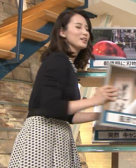 森川夕貴アナ 黒ニットの乳キャプ画像(エロ・アイコラ画像)