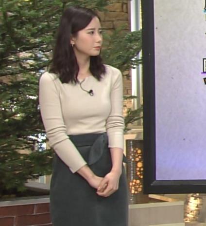 森川夕貴アナ 細身のニットおっぱい♡キャプ・エロ画像