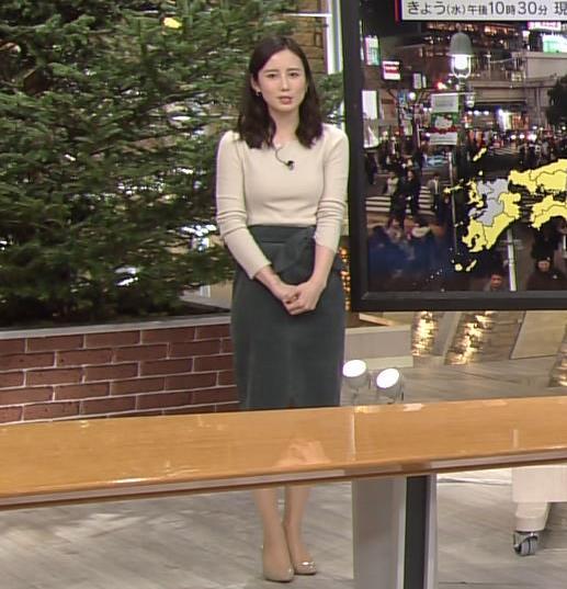 森川夕貴アナ 細身のニットおっぱい♡キャプ・エロ画像3