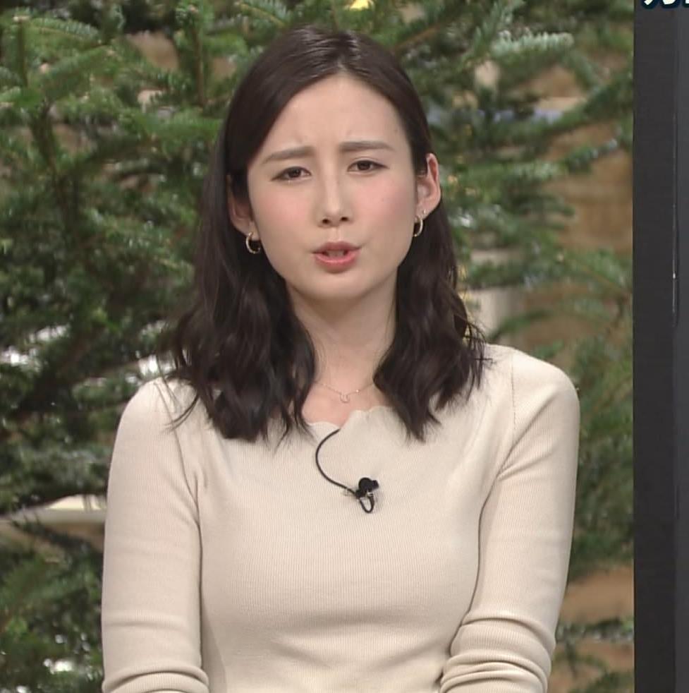 森川夕貴アナ 細身のニットおっぱい♡キャプ・エロ画像5