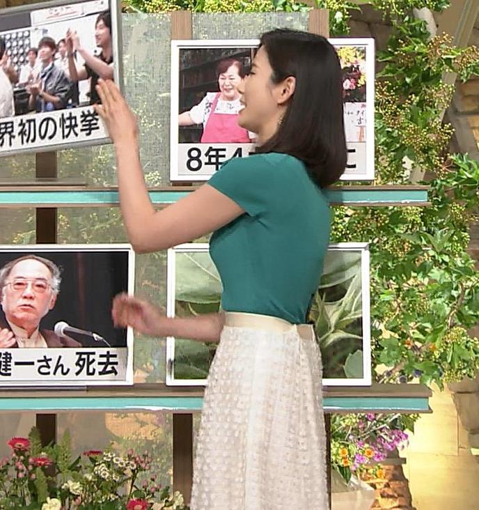 森川夕貴アナ またおっぱいがエロい服を着てるキャプ・エロ画像