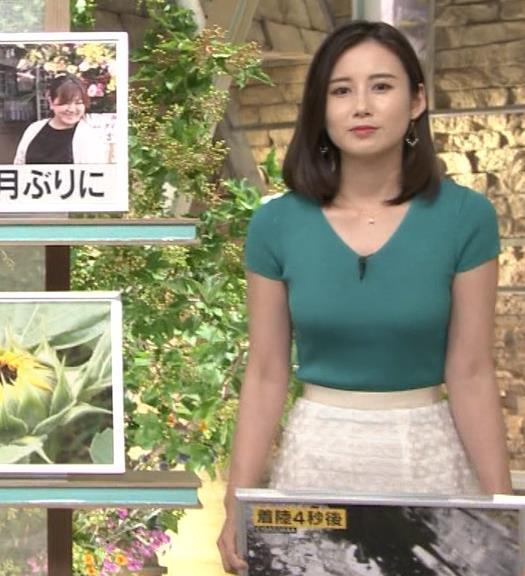 森川夕貴アナ またおっぱいがエロい服を着てるキャプ・エロ画像2