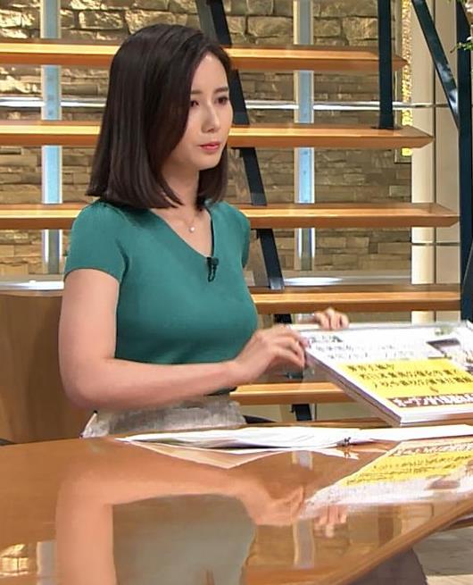 森川夕貴アナ またおっぱいがエロい服を着てるキャプ・エロ画像11