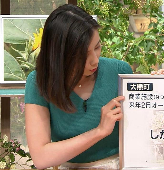 森川夕貴アナ またおっぱいがエロい服を着てるキャプ・エロ画像10