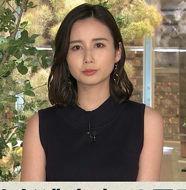 森川夕貴アナ 黒いノースリーブキャプ・エロ画像