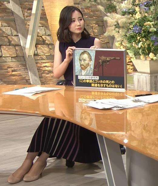森川夕貴アナ 黒いノースリーブキャプ・エロ画像6