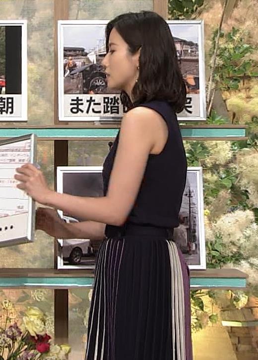 森川夕貴アナ 黒いノースリーブキャプ・エロ画像7