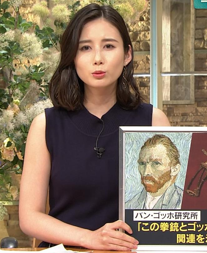 森川夕貴アナ 黒いノースリーブキャプ・エロ画像8