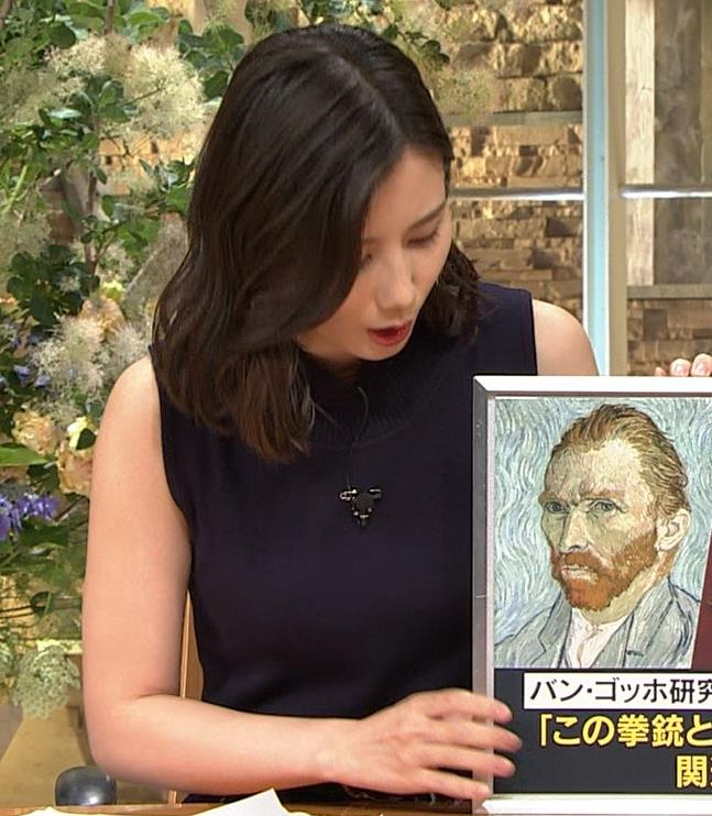 森川夕貴アナ 黒いノースリーブキャプ・エロ画像9