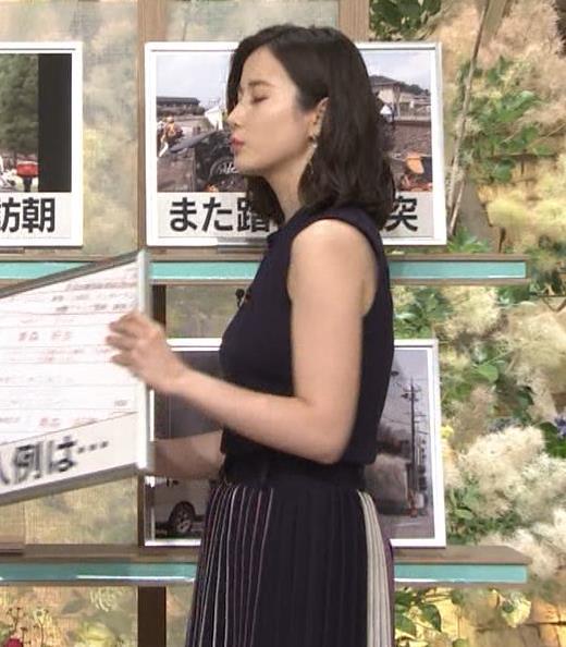 森川夕貴アナ 黒いノースリーブキャプ画像(エロ・アイコラ画像)